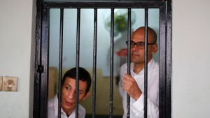 The Burlington-based family of Canadian teacher Neil Bantleman, pictured at right in 2014, say they're satisfied the Canadian government is paying more than lip service to helping to free Neil from prison in Indonesia for a crime they staunchly deny he committed. (Darren Whiteside/Reuters)